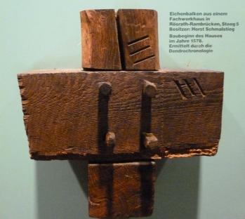 Eichenbalken von 1578 vom Fachwerkhaus