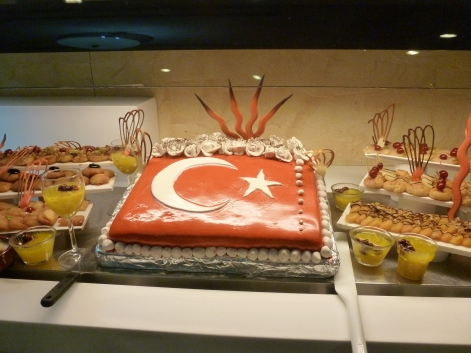 türkisches Schaumdessert