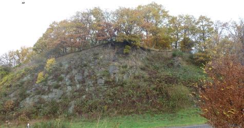 Felswand gegen über der Aussicht
