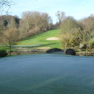 Golfanlage beim ersten Frost