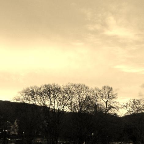 Der pur pur rote Himmel von Bad Bodendorf