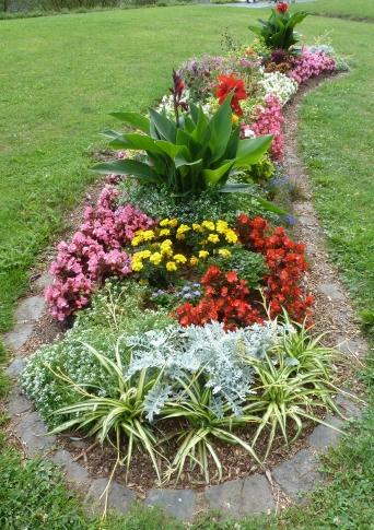 Blumenbeet an der Mosel von Cochem