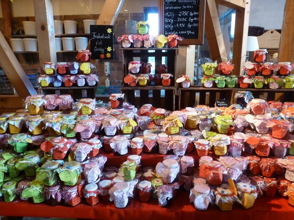 So viel Variationen an Marmelade -Gelee was das Herz begehrt