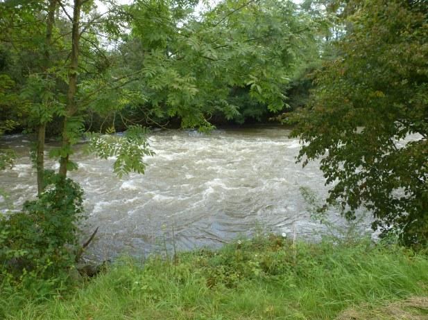 Nach starken Regen Hochwasser an der Ahr