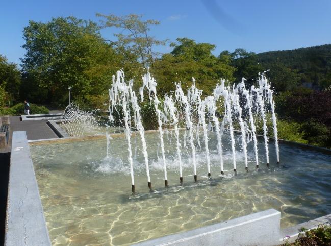 Die Wasserfontäne im Kurpark