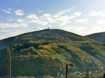 Weinberge hoch in den Bergen