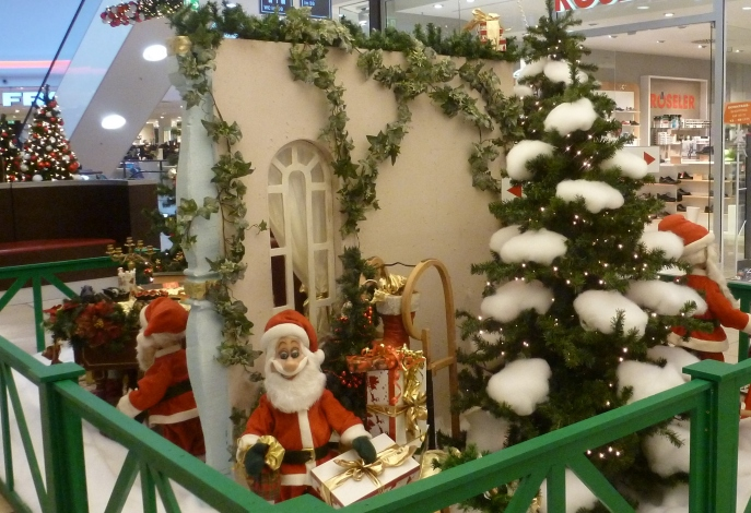 Schöne Weihnachtsdekoration