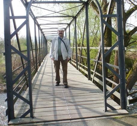 Das bin ich auf der Brücke