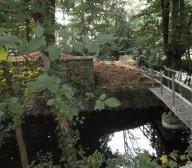 Steg zur Burg Ruine Kippekausen