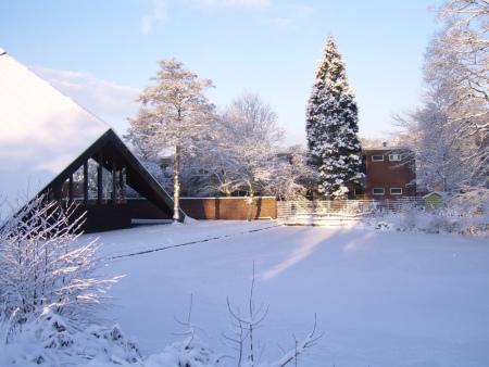 Die Zeltkirche mit Schnee 2010