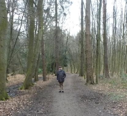 Das bin ich im Wald