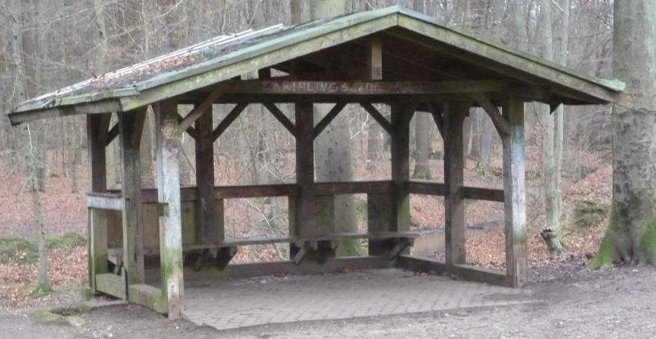 So sieht die Hütte 2016 aus zerstört von Vandalen