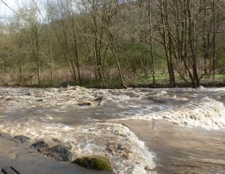 So sah die Ahr bei Hochwasser aus