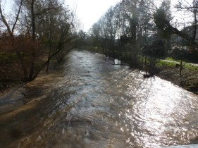 Die Ahr mit Hochwasser