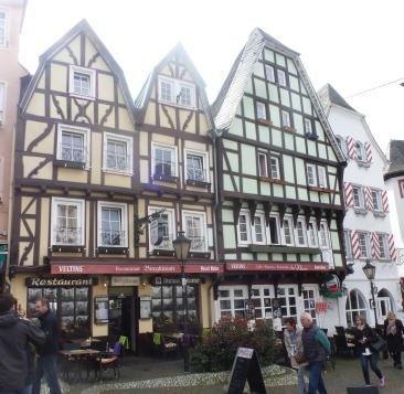 alte Fachwerkhäuser in Linz