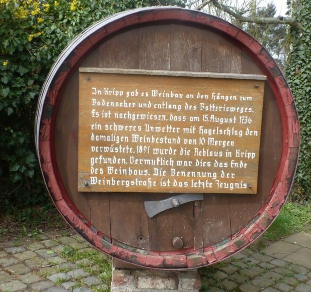 Weinfass und die Geschichte des Weinbaus in der Region