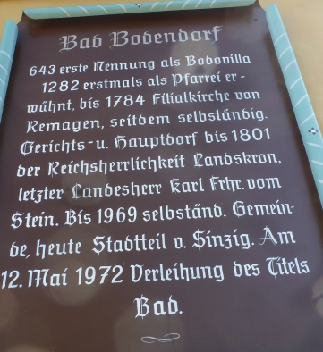 Bad Bodendorf Hinweissschild