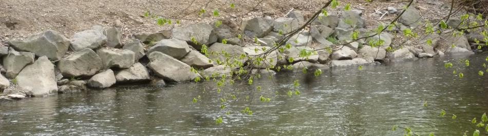 Ufer Schutz Befestigung bei Hochwasser